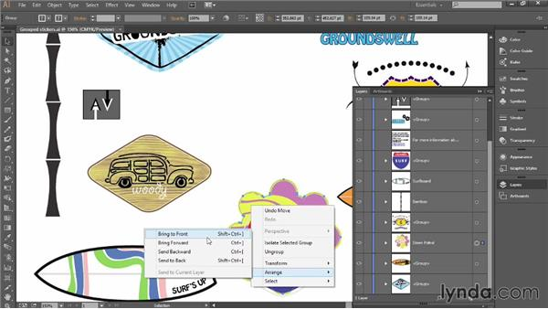 Organizing artwork with layers: Introducing Illustrator