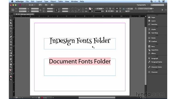 Managing and packaging fonts in InDesign: Font Management Essential Training