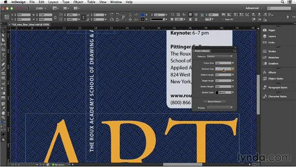120 Making InDesign patterns with the free PatternMaker: InDesign Secrets