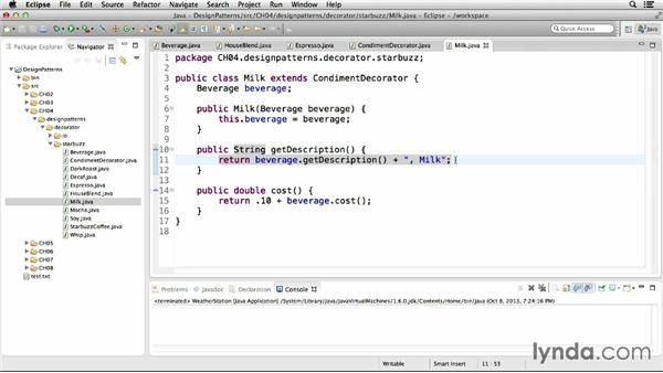 Implementing the decorator pattern: Foundations of Programming: Design Patterns