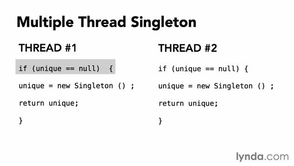 Dealing with multithreading: Foundations of Programming: Design Patterns