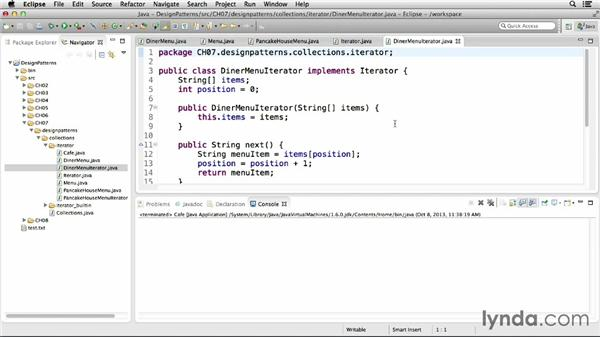 Implementing the iterator pattern: Foundations of Programming: Design Patterns