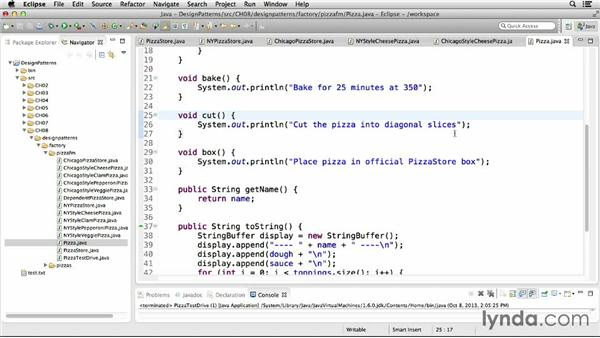Implementing the factory method pattern: Foundations of Programming: Design Patterns