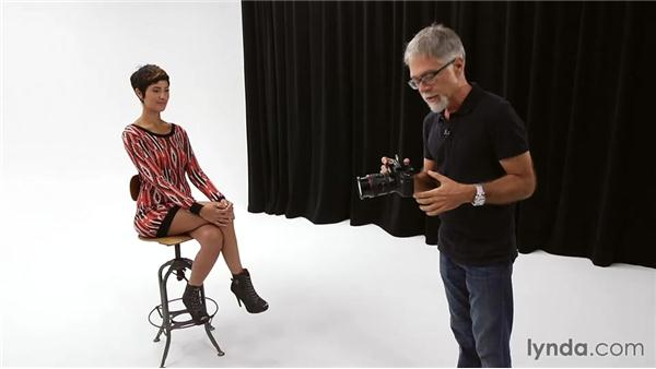 Shooting a portrait with flash as the key light: Foundations of Photography: Flash