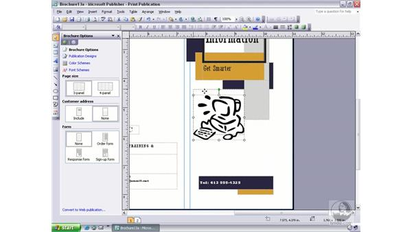 snapping to guides, rulers, and objects: Publisher 2003 Essential Training