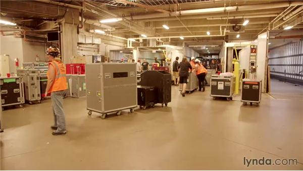 Loading out of the venue: Live Sound Engineering Techniques: On Tour with Rush