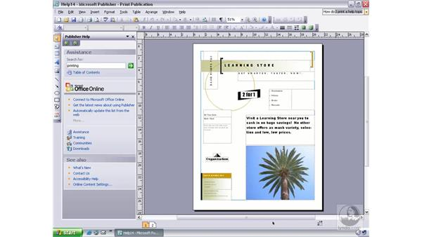 asking a question: Publisher 2003 Essential Training