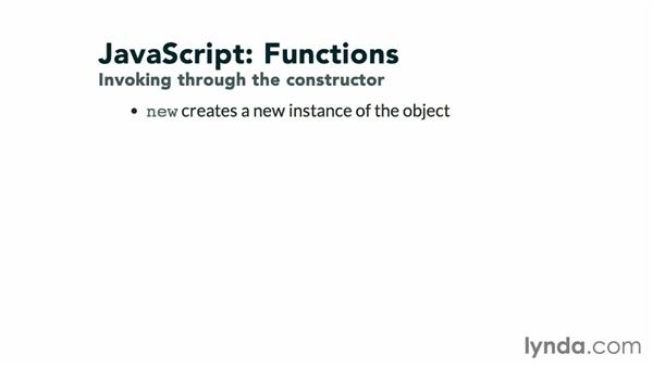 Invoking instances through the constructor: JavaScript: Functions