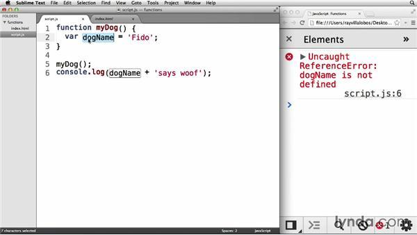 Understanding hoisting and variable scope: JavaScript: Functions