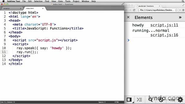 Chaining module method calls: JavaScript: Functions