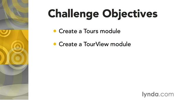 Challenge: Creating a TourView module: Up and Running with Titanium