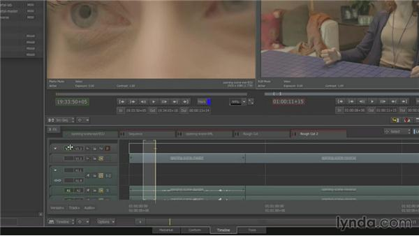 Adding cutaways with three-point editing: Smoke 2013 Essential Training