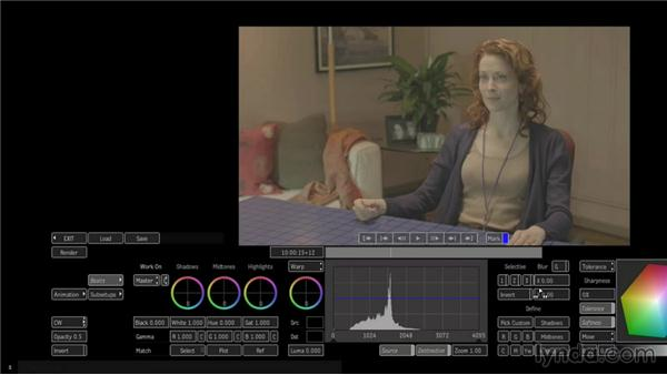 Making primary color corrections with timeline effects: Smoke 2013 Essential Training