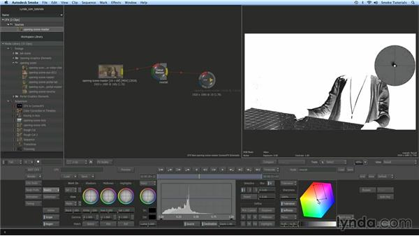 Primary and secondary color correction in ConnectFX: Smoke 2013 Essential Training
