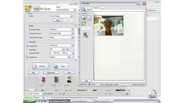 Importing from a Scanner (Win): Photoshop Elements 3 Essential Training