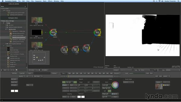 Keying and compositing the layers together in Action: Smoke 2013 Essential Training