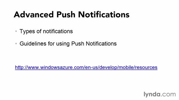 Azure push notifications: Using Windows Azure with Windows Store Apps