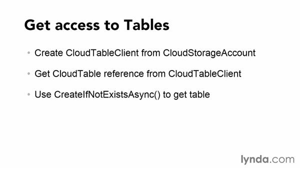 Creating tables: Using Windows Azure with Windows Store Apps