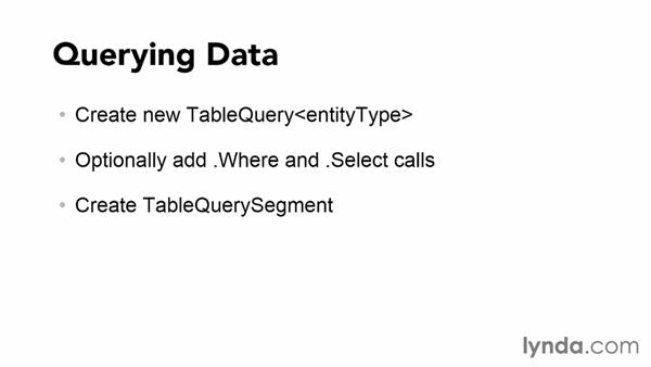 Querying data: Using Windows Azure with Windows Store Apps