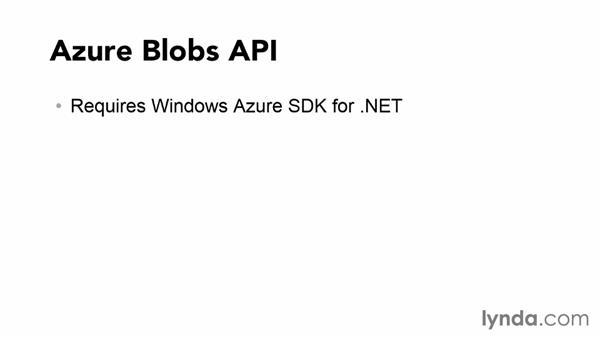 Understanding the Azure Blob API: Using Windows Azure with Windows Store Apps
