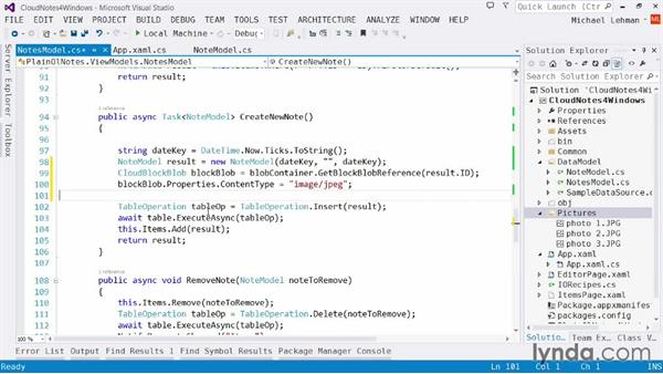 Cloud Notes app: Uploading blobs to save our images: Using Windows Azure with Windows Store Apps