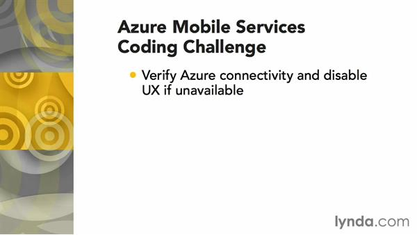 Challenge: Verifying Azure connectivity: Using Windows Azure with Windows Store Apps