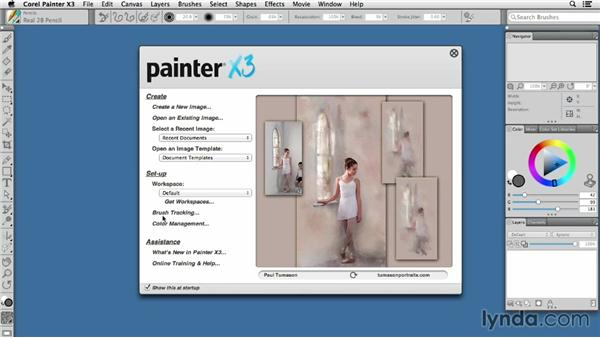 Starting Painter for the first time: Painter X3 Essential Training