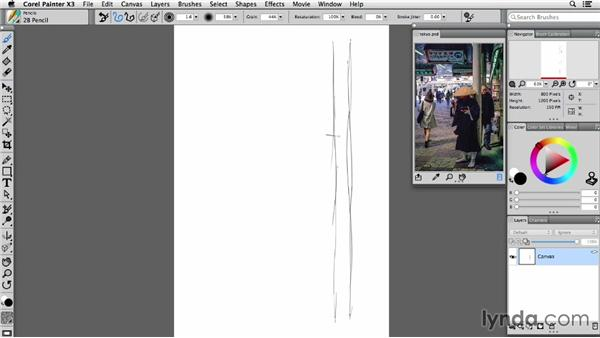 Using the Reference Image panel: Painter X3 Essential Training