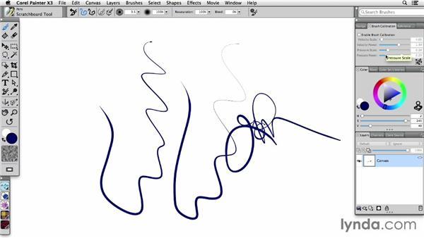 Calibrating brushes for maximum stroke quality: Painter X3 Essential Training