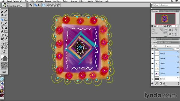 Using the Transform tool: Painter X3 Essential Training