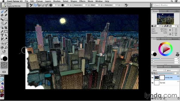 Working with layer masks: Painter X3 Essential Training