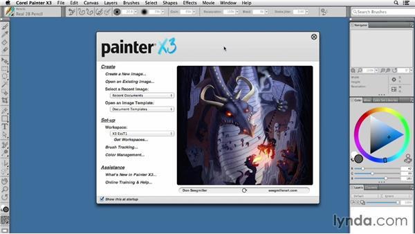 Restoring Painter's workspace: Painter X3 Essential Training