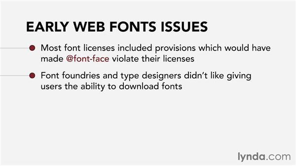 Web fonts: Web Technology Fundamentals