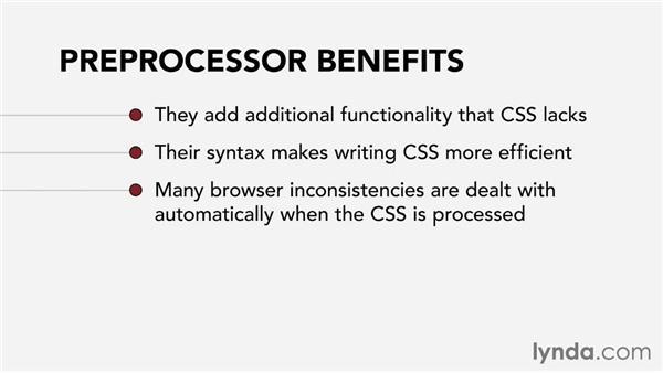 CSS preprocessors: Web Technology Fundamentals