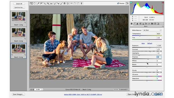 Improving the color of light on a group of photos: Photoshop for Photographers: Lighting Effects