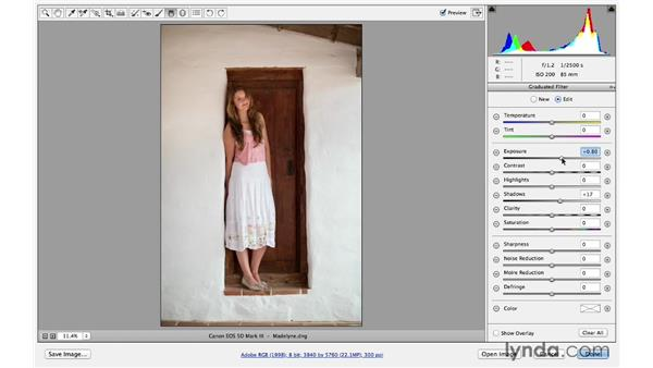 Improving larger areas with the Gradient tool: Photoshop for Photographers: Lighting Effects