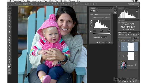 Changing the quantity and quality of light with adjustments: Photoshop for Photographers: Lighting Effects