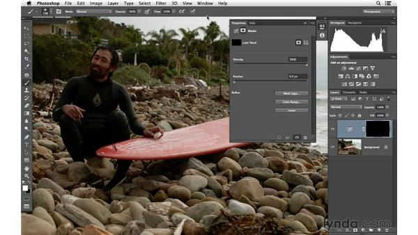 Painting in brightness with curves and masking: Photoshop for Photographers: Lighting Effects
