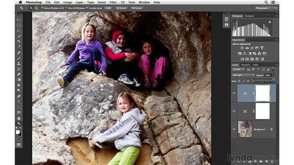 Increasing visual interest with Soft Light blending: Photoshop for Photographers: Lighting Effects