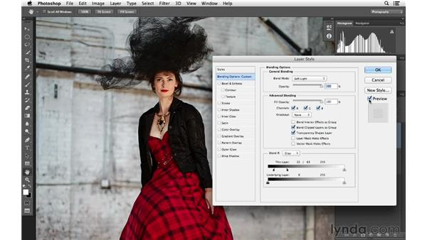 Soft Light blending: Recovering detail: Photoshop for Photographers: Lighting Effects