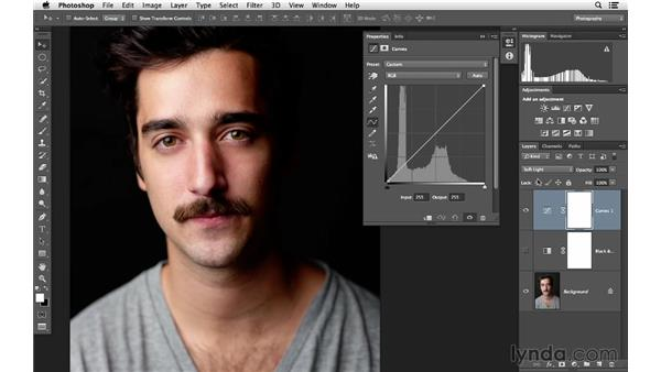 Fine-tuning Soft Light blending with advanced Curves adjustments: Photoshop for Photographers: Lighting Effects