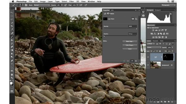 Brightening with blending modes and masking: Photoshop for Photographers: Lighting Effects