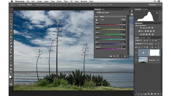 Changing brightness with Luminosity blending: Photoshop for Photographers: Lighting Effects