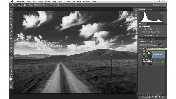 Working with the Burn and Dodge tools: Photoshop for Photographers: Lighting Effects