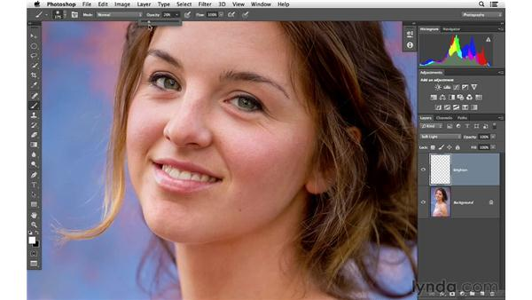 Improving a portrait by brightening shadows: Photoshop for Photographers: Lighting Effects
