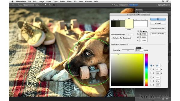 Adding light and color: Photoshop for Photographers: Lighting Effects