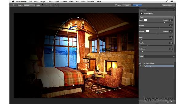 Using multiple lights with one photograph: Photoshop for Photographers: Lighting Effects