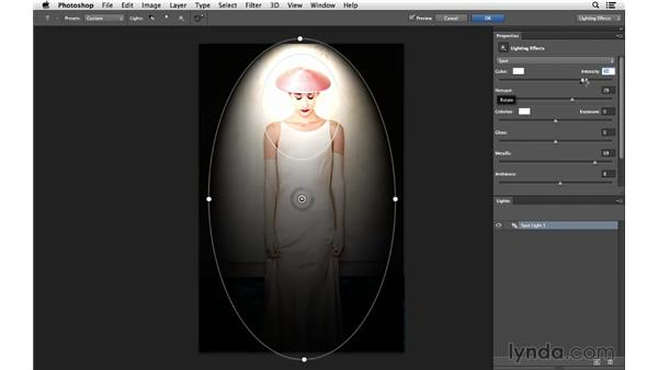 Adding light and multiple colors for a creative effect: Photoshop for Photographers: Lighting Effects