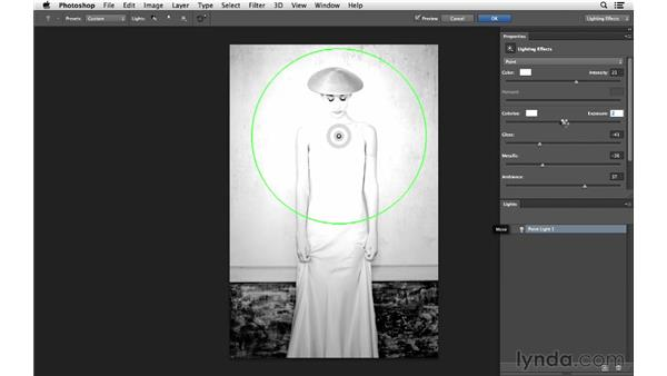 Creating an edgy, illuminated look: Photoshop for Photographers: Lighting Effects