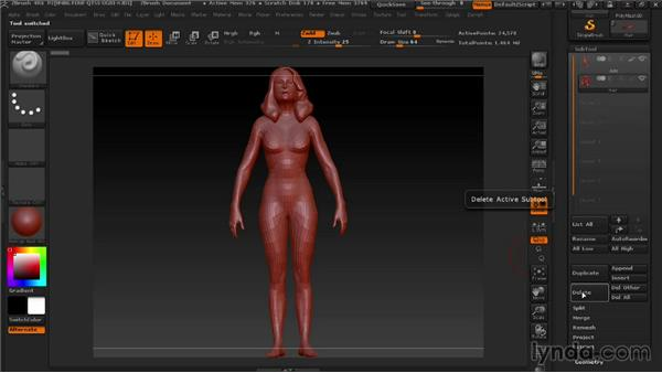 Getting a base model to start with: Modeling a Female Android in ZBrush